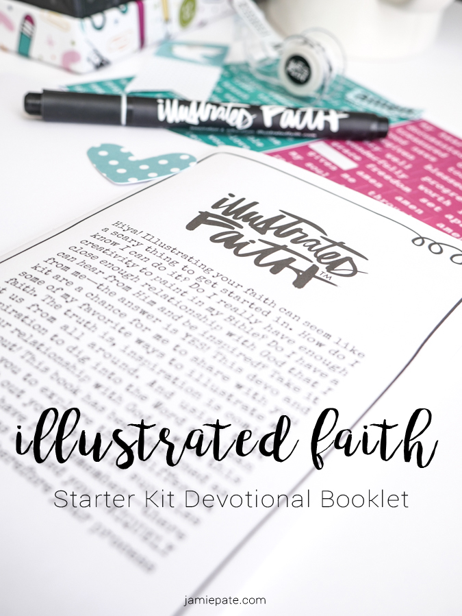 Illustrated Faith Starter Kit ~ Devotional Booklet Tour by Jamie Pate  | @jamiepate for @bellablvd
