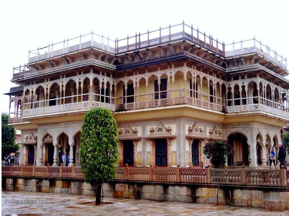Mubarak Mahal Indo- British fusion architecture Jaipur city Palace - Rajasthan, India - Pick, Pack, Go