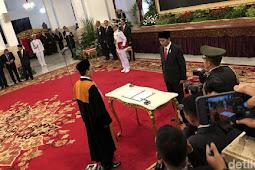 Di Depan Presiden Jokowi, Sunarto Ucapkan Sumpah Jabatan Wakil Ketua MA