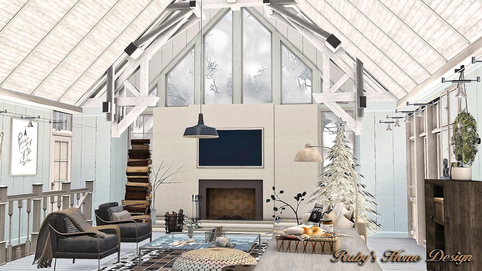 Sims3 Winter Farmhouse 冬之屋 Ruby S Home Design
