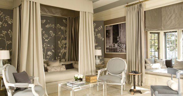Chinoiserie Chic: The Gray Chinoiserie Bedroom