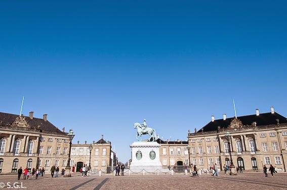 Panoramica del palacio de Amalienborg en Copenhague