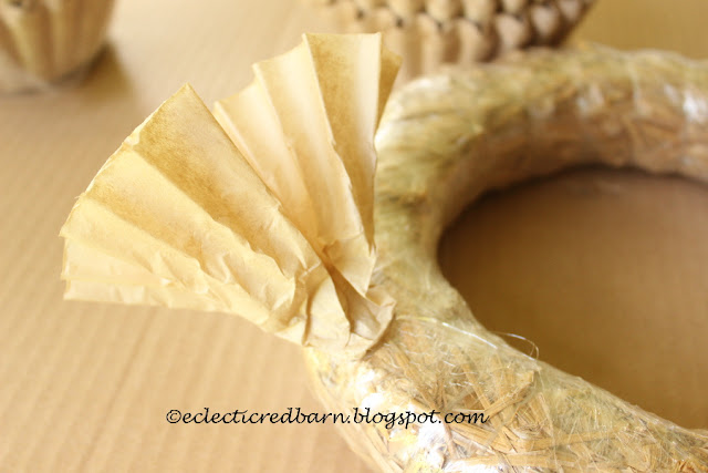 Eclectic Red Barn: Attaching the coffee filter to base