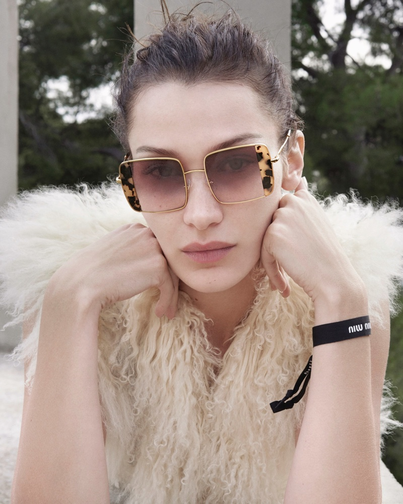 Bella Hadid stars in Miu Miu eyewear spring-summer 2020 campaign.