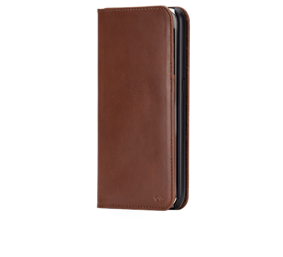 3. Brown Leather Wallet Folio Case