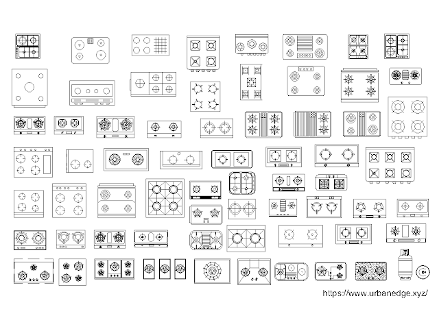 Cooktops dwg autocad blocks download - 70+ Free Dwg Models
