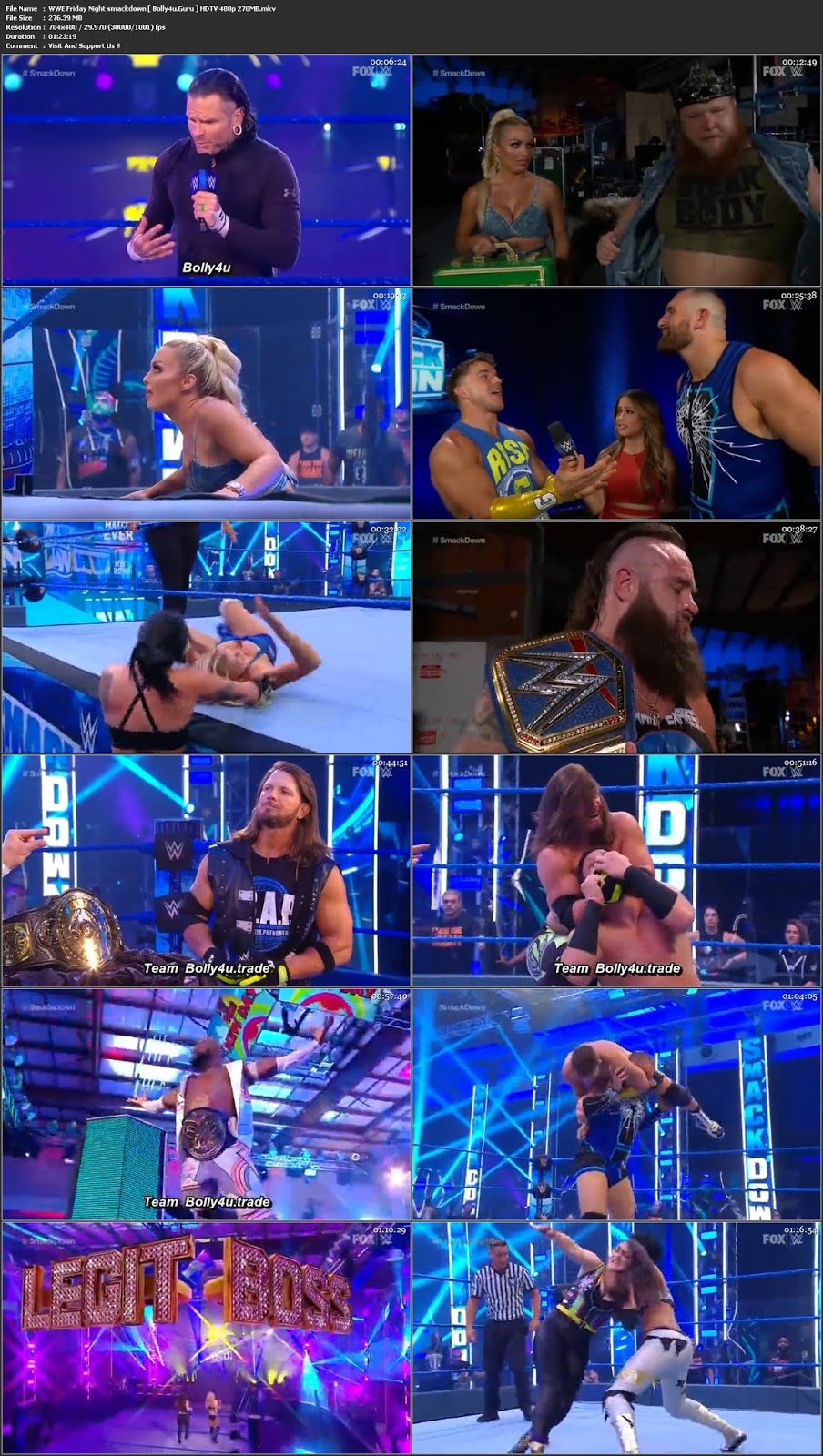 WWE Friday Night Smackdown HDTV 270Mb 480p 05 June 2020 Download