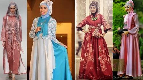 macam-macam gaun pesta muslimah yang menarik