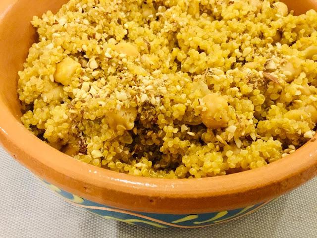 Quinoa and chickpea dish