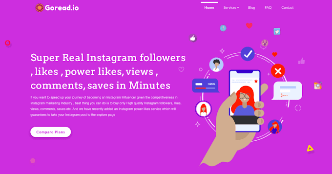 Goread.io Review: To buy Authentic, Powerful Instagram followers, likes and views