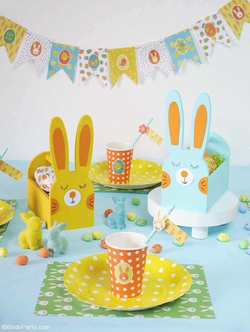 Easter Kids DIY Pastel Tablescape