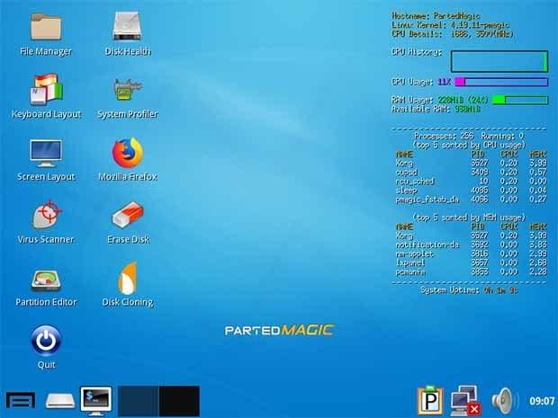 تحميل برنامج Parted Magic 2020.05.20 ISO قوي لتقسيم القرص واستعادة البيانات