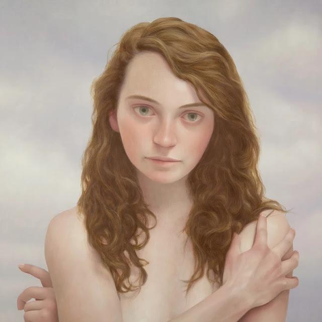Lu Cong arte inspirador, ojos miradas expresivas, retrato mujer joven, imagenes