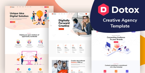 Best Creative Agency XD Template