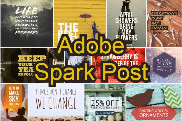 adobe spark post image editing templates android app ios free