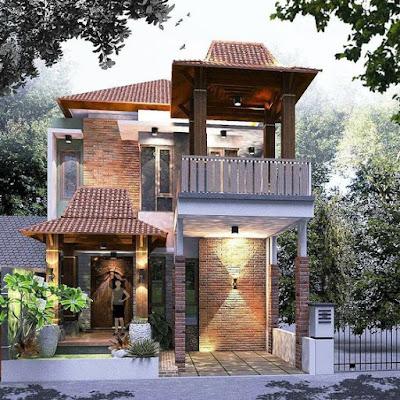 Desain Rumah Joglo Modern yang Unik & Minimalis