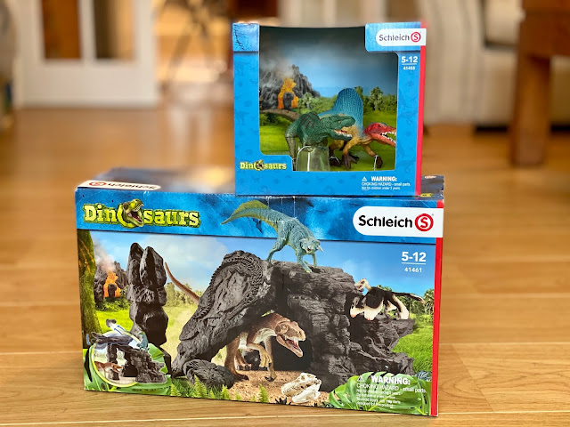 The Dinosaurs range from Schleich in it's packaging