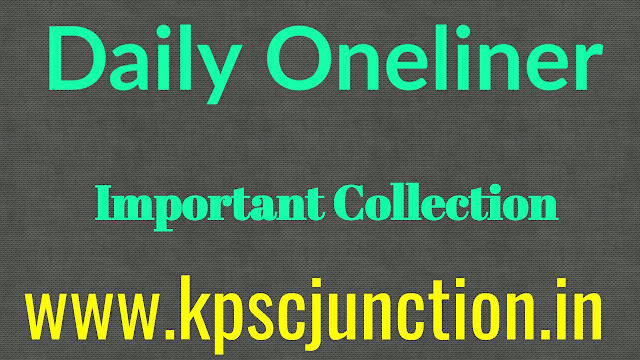 Daily OneLiner GK Questions and Answers SEPTEMBER 27,2019