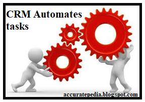 CRM Automates everyday tasks