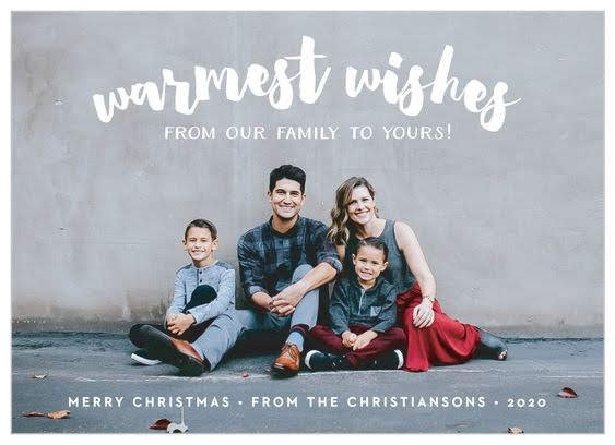 Modern Snapshot Christmas Card | Basic Invite