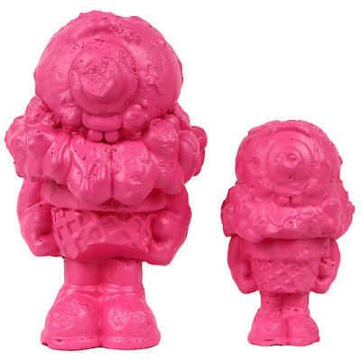 Mister Melty Pink Power Edition Concrete Sculptures by Buff Monster