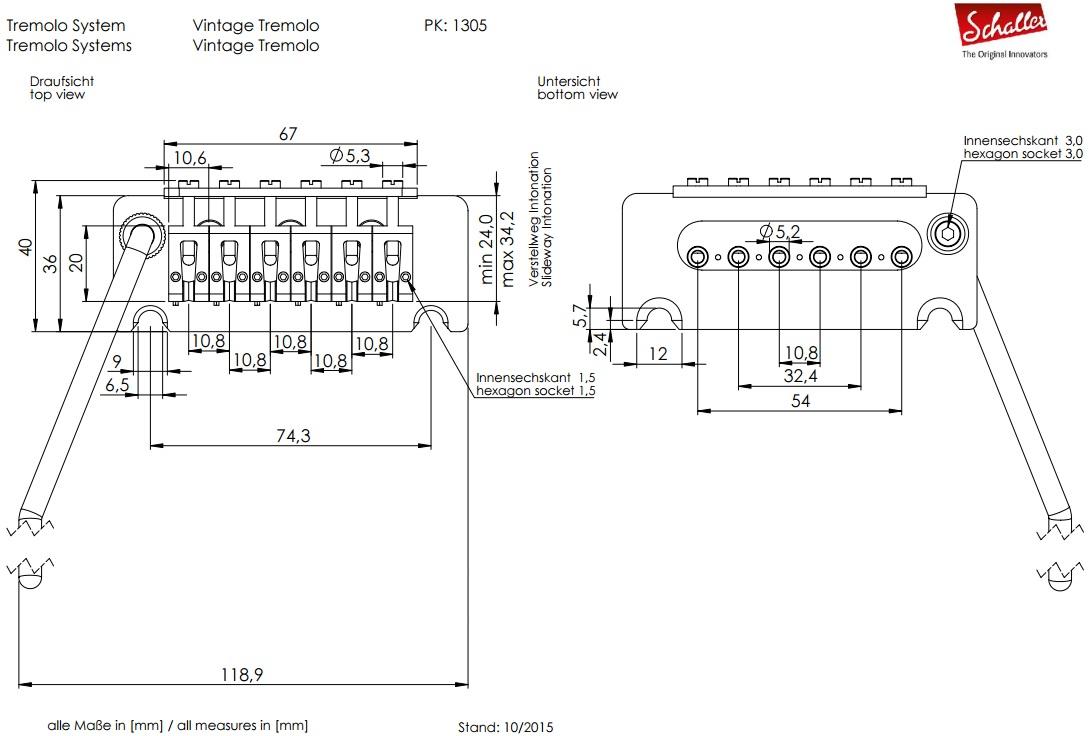 Gear Otaku Floyd Rose Diagram Original Pro