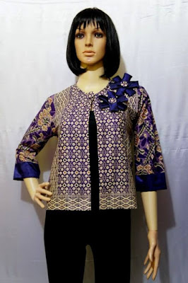 Gambar Cardigan Batik Modern Pendek