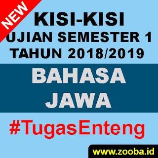 Kisi-Kisi UAS Bahasa Jawa 2018/2019 SMK Pemalang