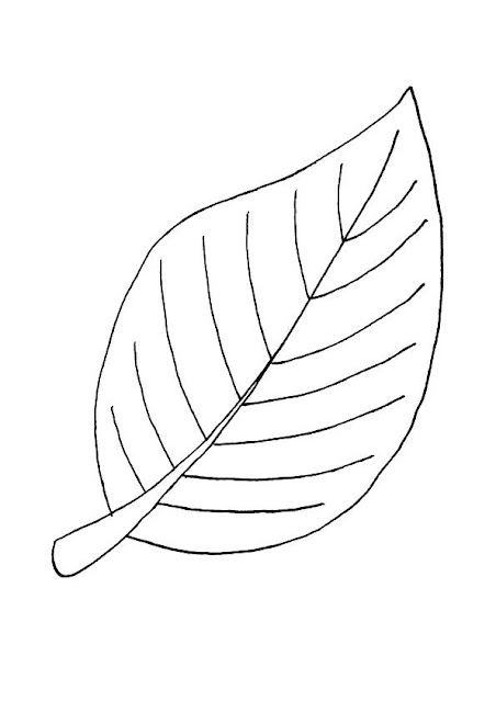 صورة ورق شجرة للتلوين