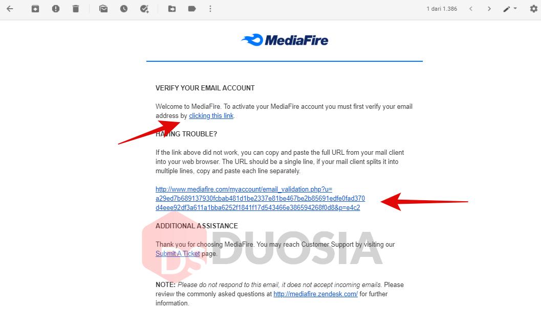 cara membuat akun gratis di mediafire