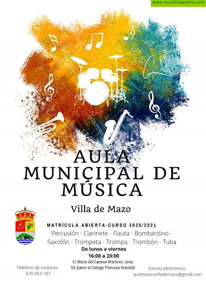 Villa de Mazo mantiene abierta la matrícula gratuita del Aula Municipal de Música para el curso 2020-2021