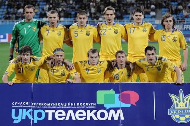 Formación de Ucrania ante Chile, amistoso disputado el 7 de septiembre de 2010