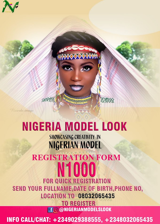 Are you beautiful or handsome ? Are you creative ?Can you steal the shots from the cameras ...? Do you intend being showcased on major platforms ....  NIGERIA MODEL LOOK is the real deal ....Showcasing creativity in Nigerian Models