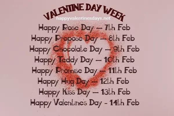 february days 2021 valentine week
