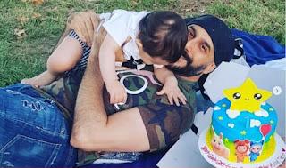 هكذا احتفل الفنان قصي خولي بعيد ميلاد ابنة قائلاً .. كل سنة وأنت عميدي وفارسي