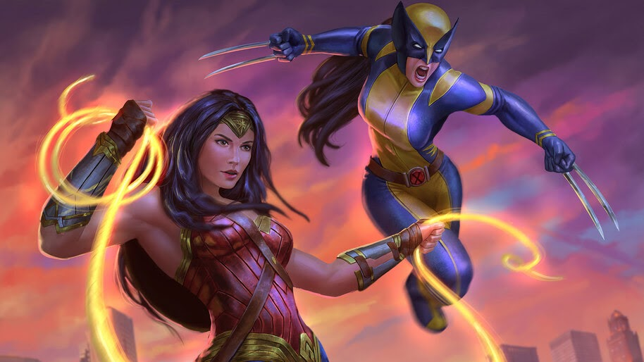 Wonder Woman and X-23, Girl, Superheroes, 4K, #6.2014