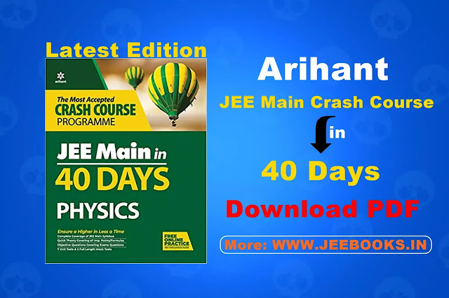 [PDF] Arihant Physics 40 Days Crash Course for JEE Main Free Download