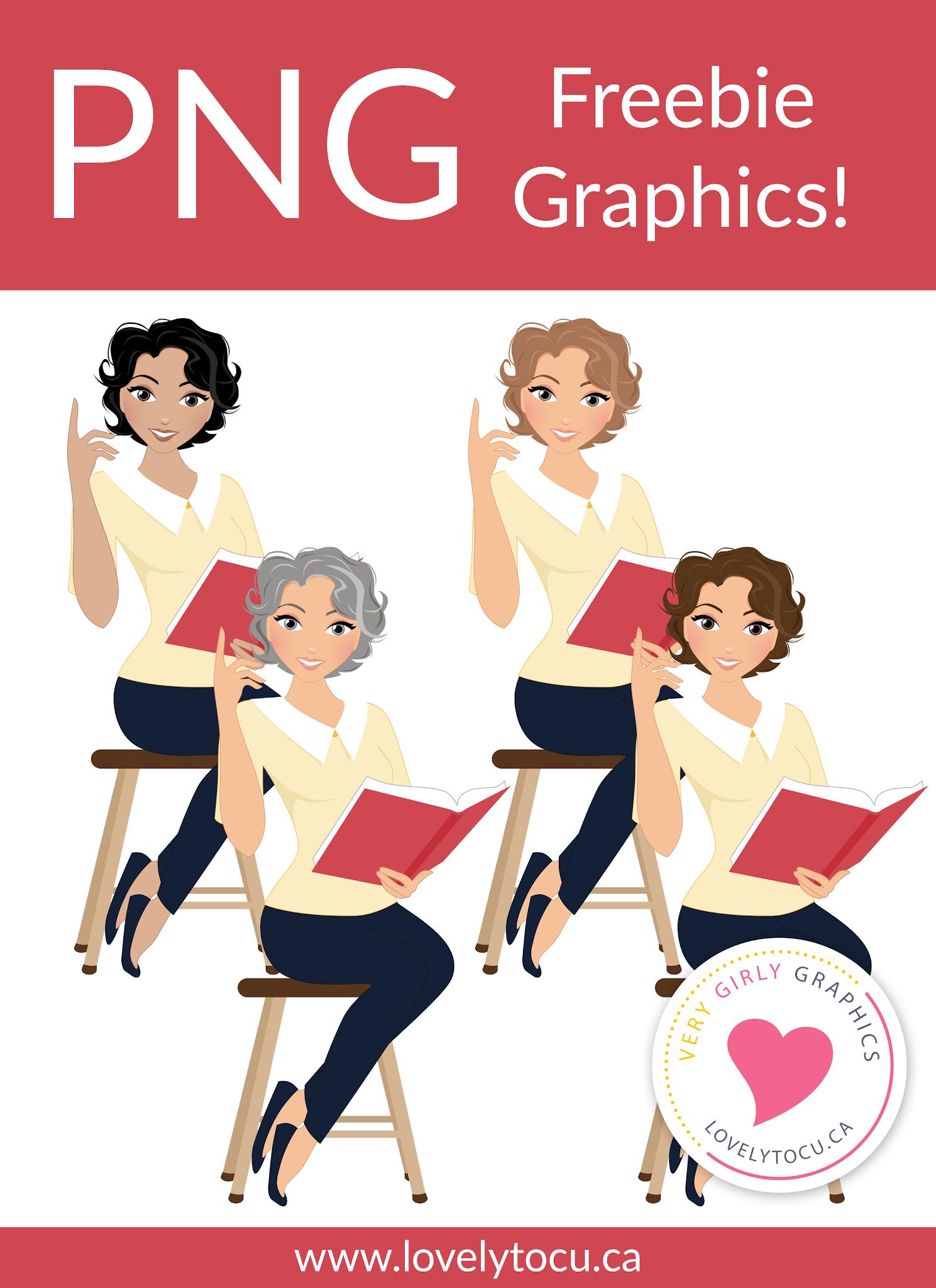Lovelytocu freebie teacher character graphics