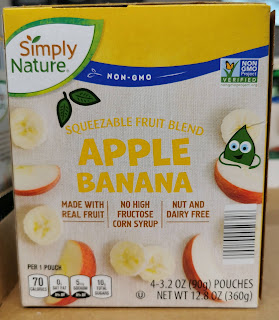 Box of SimplyNature Apple Banana Squeezable Fruit Blend pouches