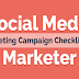 Social Media Marketing Campaign Checklist For Marketer #infographic