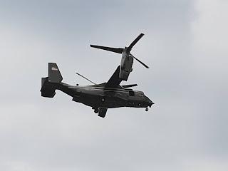 An Osprey aircraft in flight