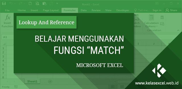 Belajar Cara Menggunakan Fungsi MATCH Excel