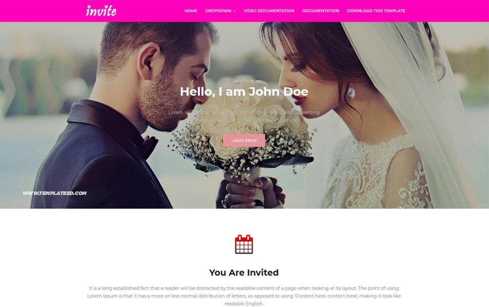 Invite Responsive Blogger Template