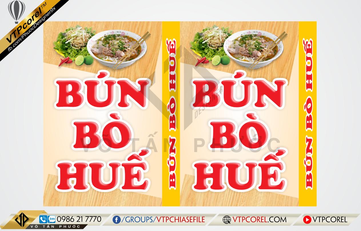 Bảng hiệu Bún Bò Huế độc đáo