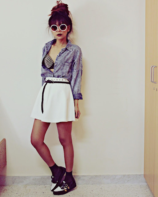 look camicia in denim