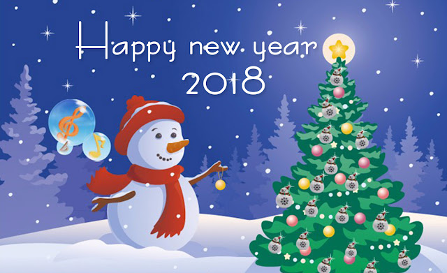 2018 New Year Greetings Cards Images