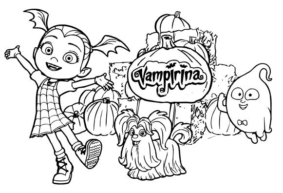 Imprimir Dibujos Para Colorear Vampirina 18