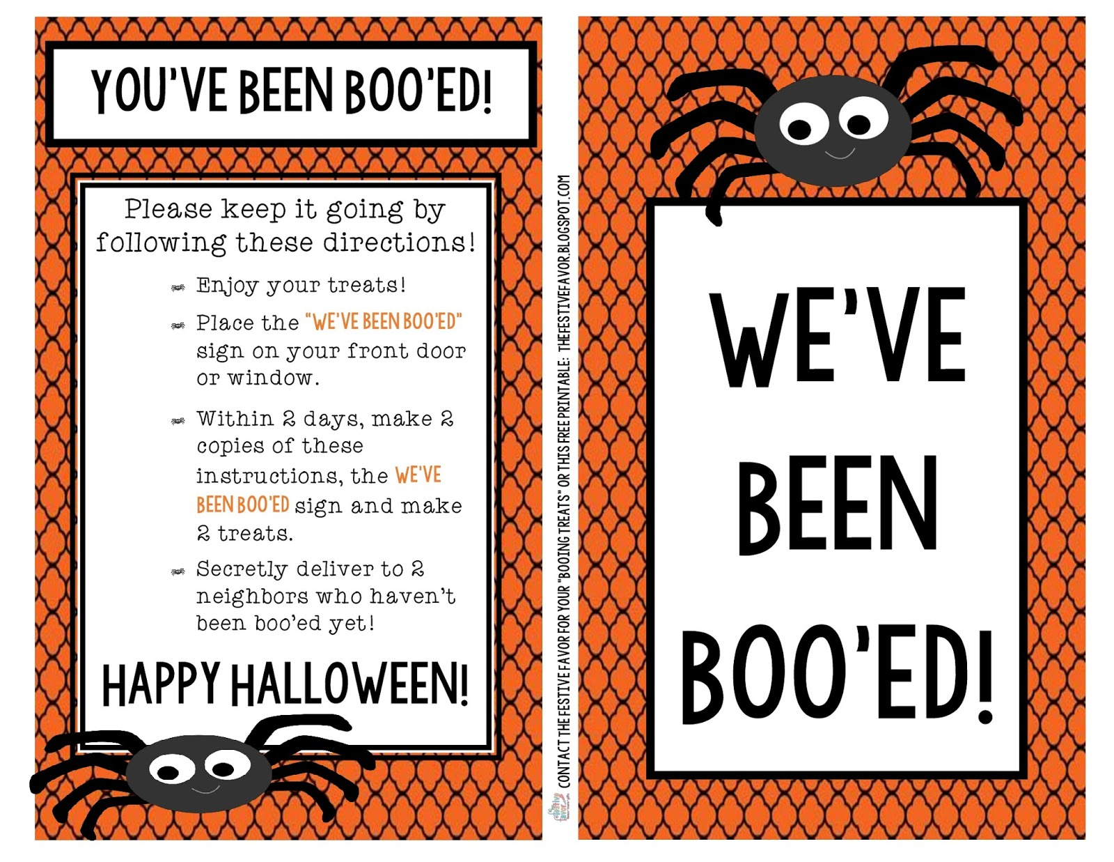 picture regarding You've Been Booed Free Printable referred to as The Festive Want: Youve Been Booed! Totally free Printable