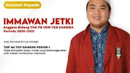 Jetki Che, Mahasiswa Uhamka Gaet Gelar Bergengsi Sebagai Juara 1st Top Gainers Period I di UI