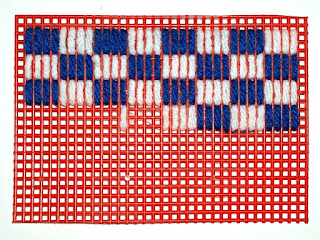 sample of stitch for checked tablecloth